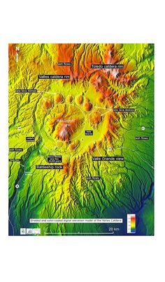Valles Caldera Map, NM