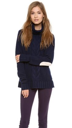 Elbow patch sweater.