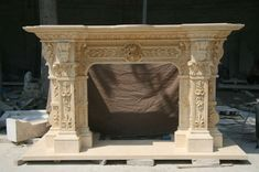 ININCREDIBLE CARVED MARBLE VICTORIAN EUROPEAN FIREPLACE MANTEL - MNT8 Marble Fireplace Mantel, Marble Fireplaces, Fireplace Mantels, Mantel Surround, Carving, Victorian, Ebay, Joinery, Wood Carving