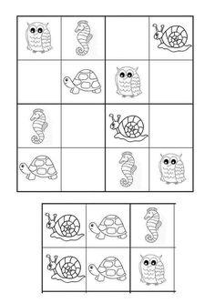 Pre K Activities, Infant Activities, Kindergarten Activities, School Worksheets, Worksheets For Kids, Math For Kids, Puzzles For Kids, Sudoku Puzzles, Kids Education