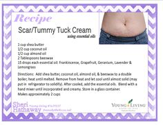 "Great for scars, stretch marks, & ""tummy tuck"" Young Living essential oils"