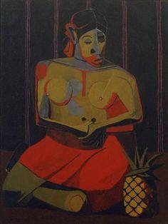 """#Rufino #Tamayo #Woman with Pineapple"""" 1941. #Art  #muralism #painting #murals"""