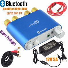 Amplificateur Bluetooth 100W HiFi  et Carte SONS Pour Ordinateur Portable