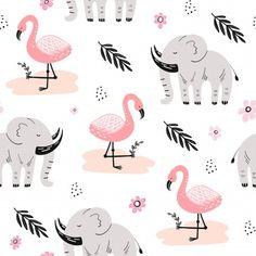 Cute Seamless Pattern With African Animals Baby Patterns, Print Patterns, Kid N Teenagers, Simple Wallpapers, African Animals, Kids Prints, Textile Patterns, Surface Pattern, My Images