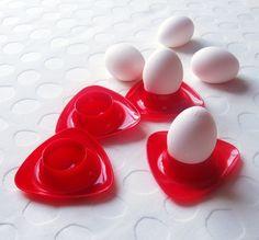 Røde RETRO Eggeglass!