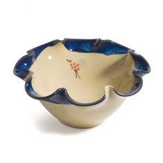 Honey & Blue Ripple Bowl €25.95 Honey, Pottery, Blue, Stuff To Buy, Ceramica, Pots, Ceramic Art, Ceramics