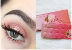 too faced - lovin this cute soft, glowing peachy look using the too faced sweet peach palate, super cute