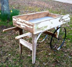 Old Wood Flower Cart   Google Search