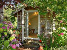 Garden Office? There's no room in my house for an office, so why not in the garden?