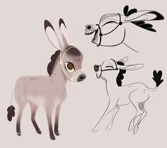 Pin by character design references on creature design horses character desi Art And Illustration, Character Illustration, Illustrations, Animal Sketches, Animal Drawings, Art Sketches, Art Drawings, Character Design References, Character Art