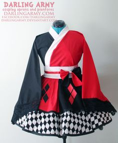 Harley Quinn Batman Cosplay Kimono Dress Wa Lolita Skirt Accessory