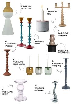 De kandelaar top 10 - Myhomeshopping #candlelight #interior #decoration