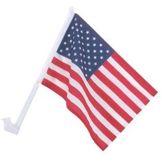 """11"""" x 16"""" Car Window American Flag (Made in China) by GAMA FLAGS. $0.99"""