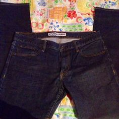 "Men's Exp Rocco skinny. ""Rocco Slim Fit, Straight Leg.""  SZ 33x32. Dark blue denim. Great pr. Of jeans. Express Jeans"