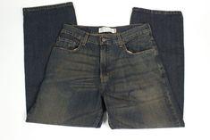 Levis 569 Loose Straight Mens 32 x 30 Dark Distressed Look Denim Jeans #Levis #LooseStraight