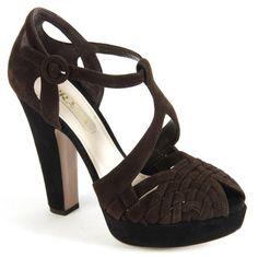 Prada sandals in dark brown and black plateau... http://www.fashionforstyle.it/01scarpa-donna/12174672-sandalo-plateux-nero.html