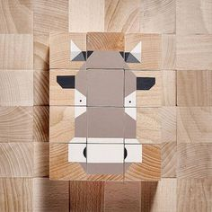 CREATE AN ANIMAL  wooden blocks baby blocks montessori
