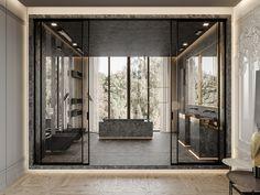 Agatha O l Marsala apartment on Behance Restroom Design, Modern Bathroom Design, Bath Design, Bathroom Interior Design, Modern Design, Home Design, Deco Boheme, Luxury Homes Interior, Deco Design