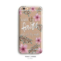 H140-FAITH in BLOOM - Freehand - TPU CLEAR CASE