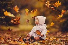 Baby & leaf fall.