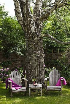 As long as outdoor furniture is safe, keep it. Let plants and decor color it up. Weather worn never looked better.