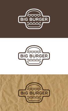 LittleMars - Design, Prints, Cards and More: Big Burger Logo