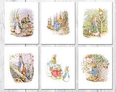 Peter Rabbit Nursery Art Beatrix Potter Nursery Decor Peter