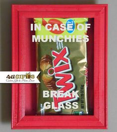 In Case of Munchies Break Glass Valentine's Day by 4UGIFTSONLINE