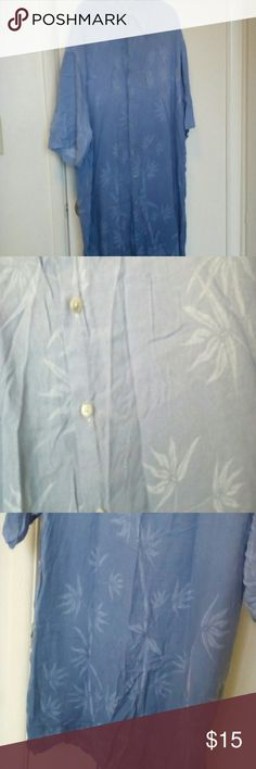 Mens shirt Soft ombre, 100% rayon, dark blue to light blue.  Never worn.  Thanks for stopping by! Campus Moda Shirts Casual Button Down Shirts