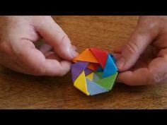 Origami YouTube Play Button easy making tutorial - Colors Paper ... | 177x236