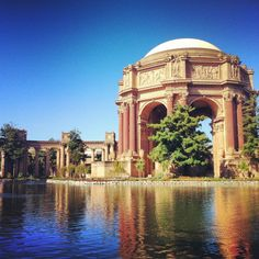 My favorite spot in SF Palace Of Fine Arts, Where To Go, Taj Mahal, San Francisco, Building, Places, Travel, St Francis, Lugares