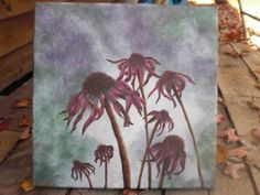 """Painting #2 in my """"Dead flower"""" series, acrylic on canvas"""