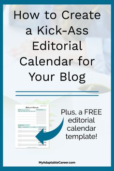 An Editorial Calendar Is Your Blogging Buddy  Ambal