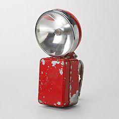 Red Industrial Flashlight