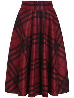 jupe à carreaux -rouge noir  28.12