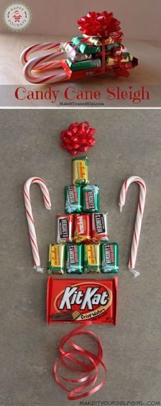 135 homemade christmas gift ideas to make him say wow pinterest simple diy candy cane sleigh 12 wondrous diy candy cane sleigh ideas that will leave your kids open mouthed easy fun desserts christmas candy solutioingenieria Choice Image
