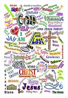 The Names Of Jesus 8x10 Print Christian Wall Art