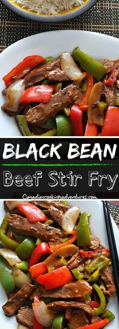 Bean & Beef Vegetable Stir fry Black Bean & Beef Vegetable Stir fry Black Bean & Beef Vegetable Stir fry These Air Fryer Steak Fajitas ar Beef In Black Bean Sauce, Black Bean Sauce Recipe, Black Beans, Cooker Recipes, Beef Recipes, Chicken Recipes, Healthy Recipes, Lasagna Recipes, Carrot Recipes