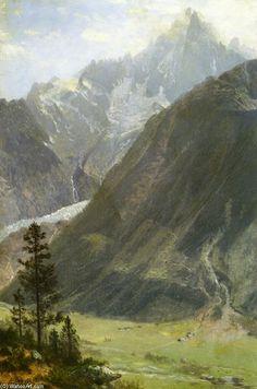 Paysage de montagne (5) de Albert Bierstadt (1830-1902, Germany)