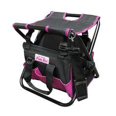 The Original Pink Box PB10FTB Pink Folding Tool Bag with Seat - #ATGStores