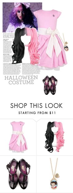 """DIY Halloween : Melanie Martinez"" by emerald-writer-girl ❤ liked on Polyvore featuring Anja, Jessie & James London, wattpad, LastMinute and halloweencostume"