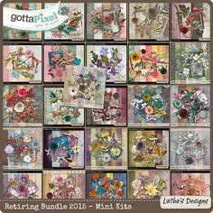 Retiring Bundle 2015 - Mini Kits :: Gotta Pixel Digital Scrapbook Store