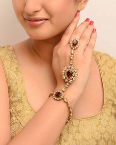 #Exclusivelyin, #IndianEthnicWear, #IndianWear, #Fashion, Choti Rani Red Haath Phool