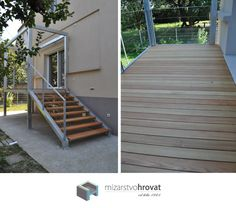 Wooden stairway is always a great idea and combined with a wooden deck is even a better idea. It gives a nice warm touch to you house. Wooden Decks, Terraces, Stairways, Touch, Warm, Nice, Outdoor Decor, Home Decor, Stairs
