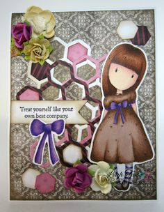Gorjuss Black Star, DT project for Quick Creations, October 2015, by Leah Tees, odetopaper.blogspot.ca