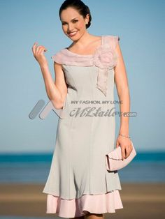 Organza Made Rose Mother Of the Bride Dress