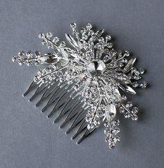 Rhinestone Bridal Hair Comb Accessory Wedding Jewelry by LXdesigns, $45.00