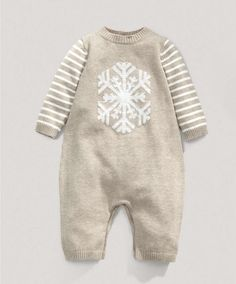 Unisex Snowflake Knitted Romper - Knitwear - Mamas & Papas