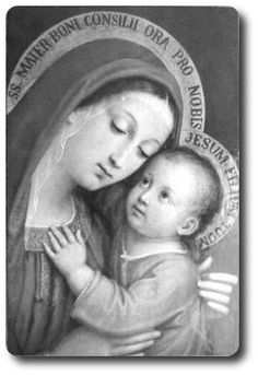 Beautiful photo of the Blessed Mother, and baby Jesus❤