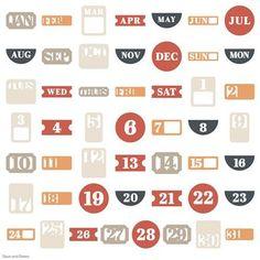 Cricut® Cartridge - Days & Dates Garden Of Words, Cricut Fonts, Cricut Cartridges, Basic Shapes, Give Thanks, Clean Design, Overlays, Dates, Craft Supplies
